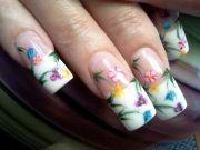 spring flowers - nail art