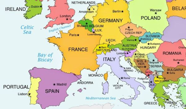 europe map with capitals 2015 Google Search Projects