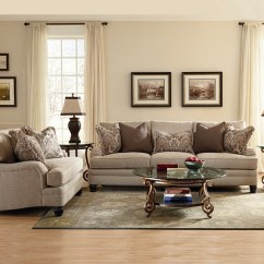 Accent Sofa Pillows Brown Leather Loveseat