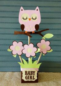 Owl Baby Shower Centerpiece | Centerpieces, Pink owl and ...
