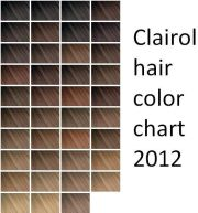 1000 hair color chart