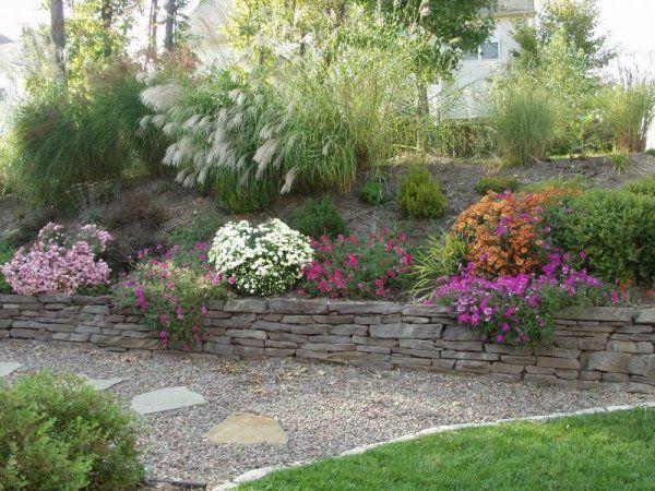 gartengestaltung pflege landschaftsbau steinmauer im garten sicht,