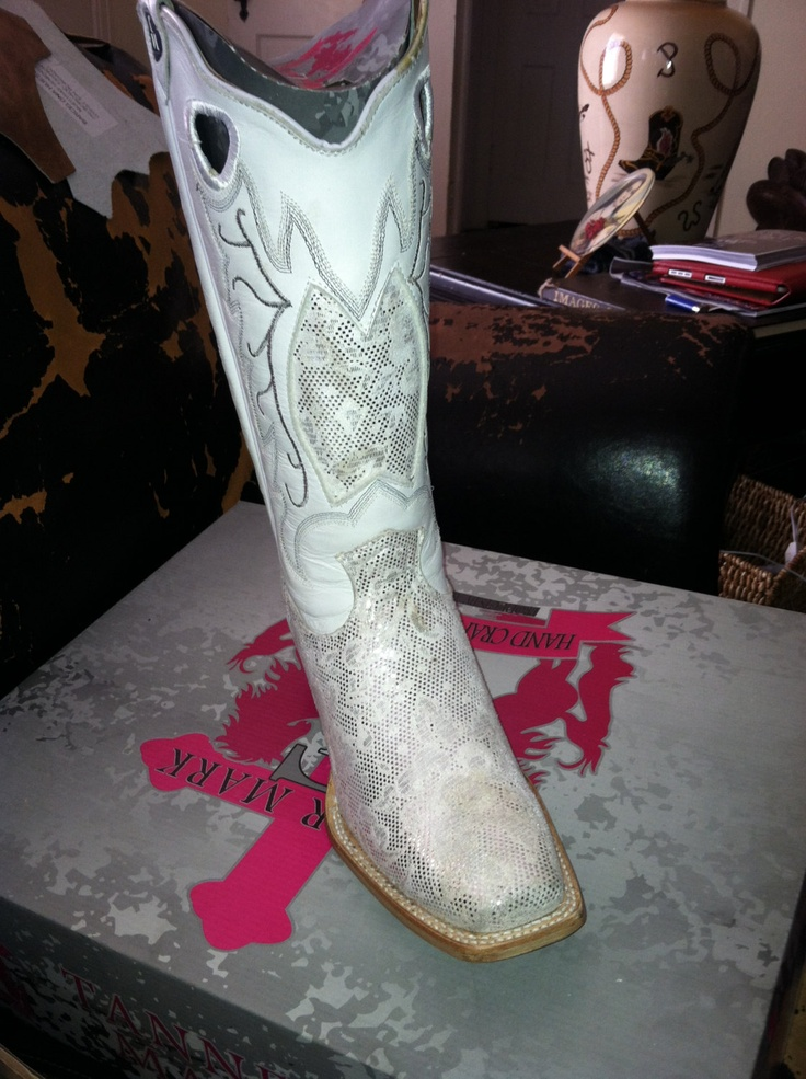White Wedding Cowboy Boots for party  Bridal attire