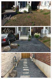 Low maintenance front and side yard. Great for a small ...