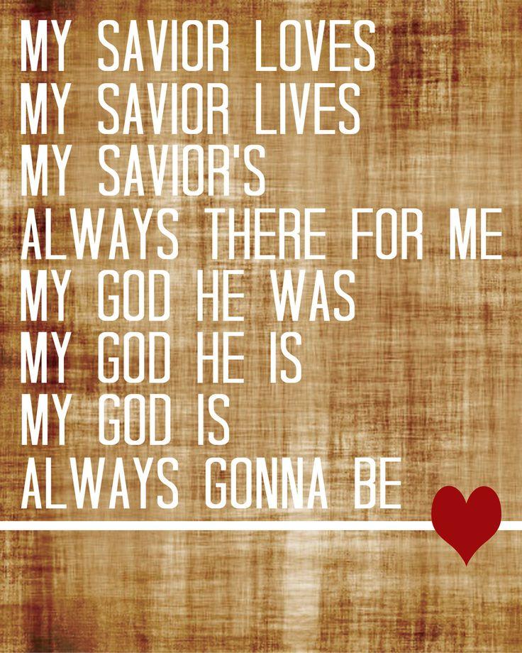 My Savior My God 8″ x 10″ P