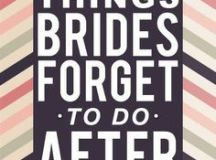 1000+ ideas about 10 Things Brides Forget To Do After ...