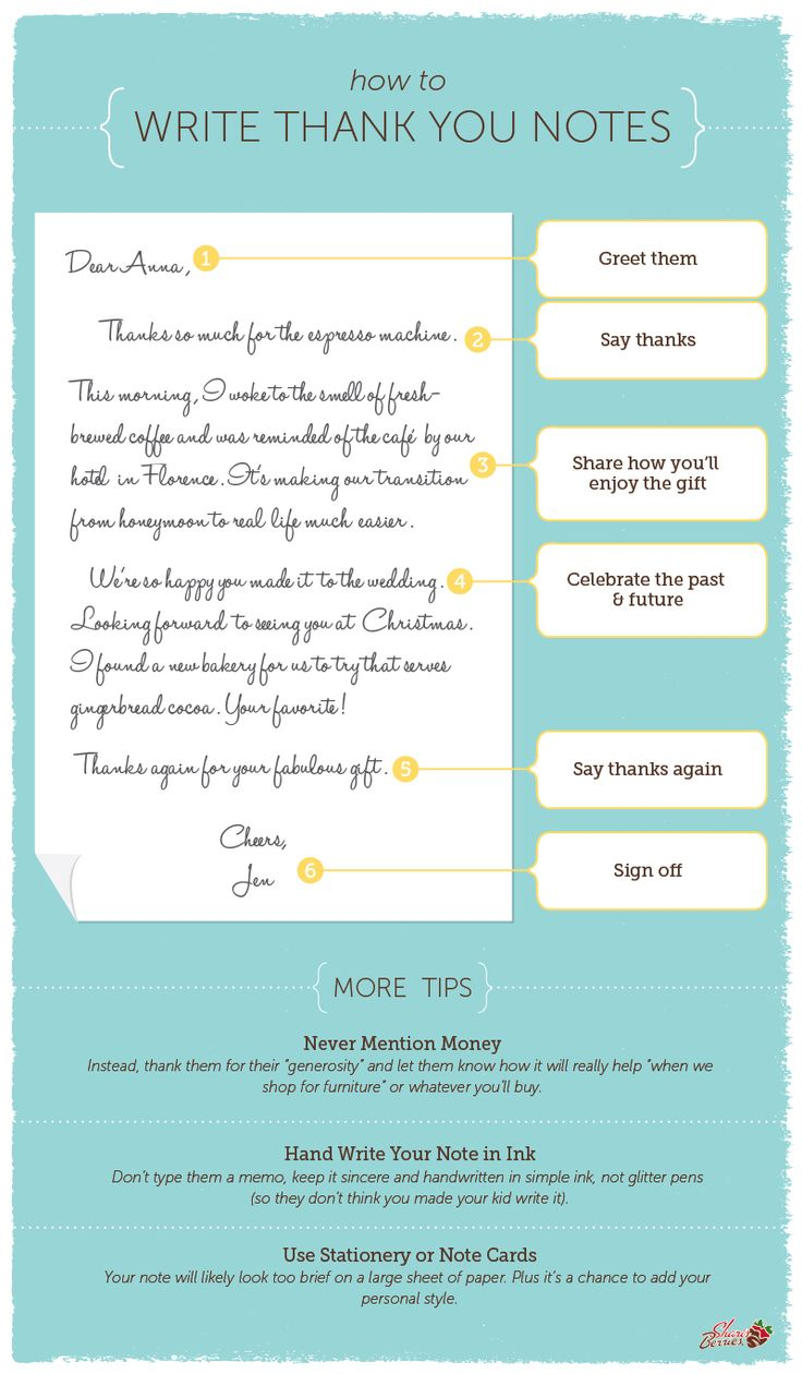 6 simple steps for how to write the perfect thank you note