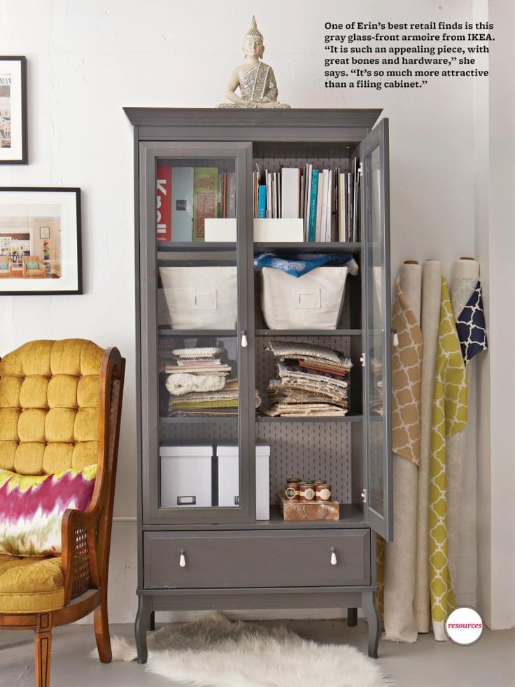 Ikea GlassFront Cabinet  Ikea ideas  Pinterest