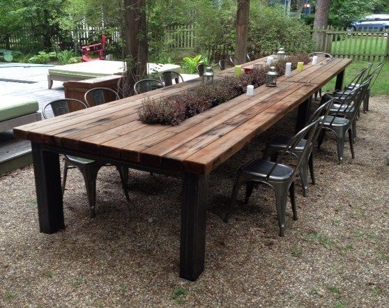 25+ Best Ideas About Outdoor Dining Tables On Pinterest