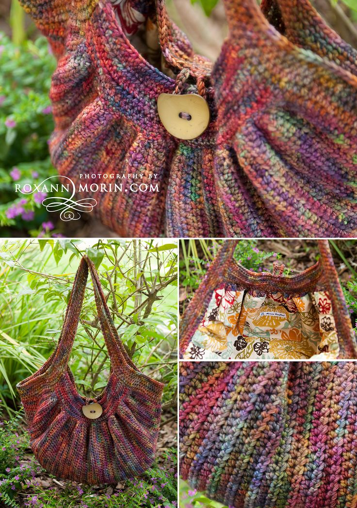 """Crochet purse """"The Fat Bag"""". I LOVE this pattern for a bag. I just followed the chart and added stitches f"""