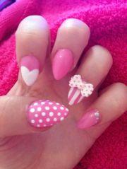pink stiletto nails nail design