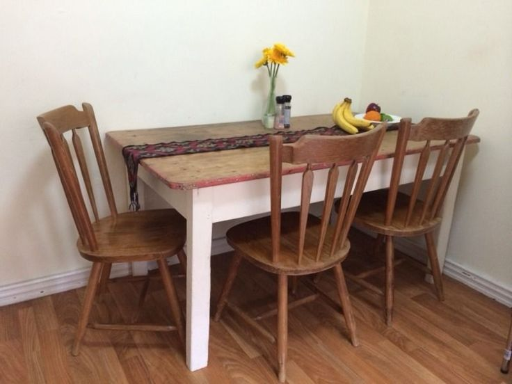 Rustic Solid Dining Table And 4 Chairs