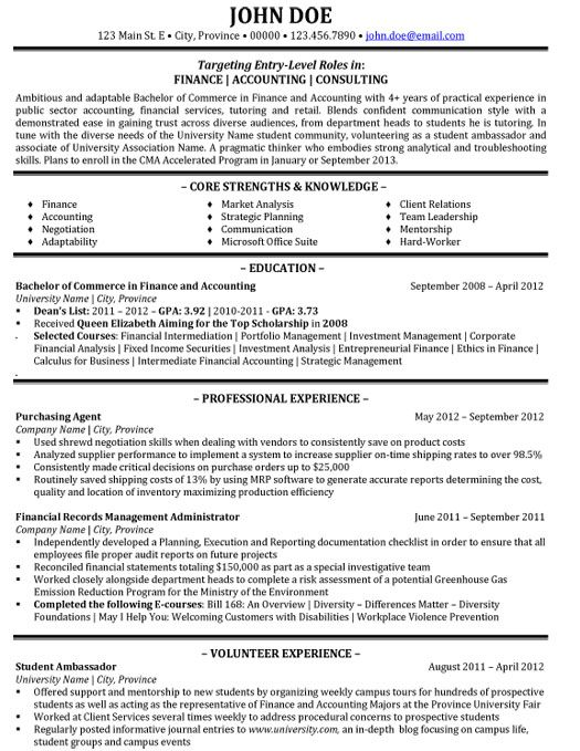 Management Consulting Resume Examples