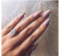 Gorgeous ring and nude nails | nails | Pinterest | Follow ...