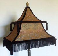 A Chinese pagoda shade circa 1900, I rebuilt the frame ...