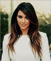 kim kardashian ombre hair color