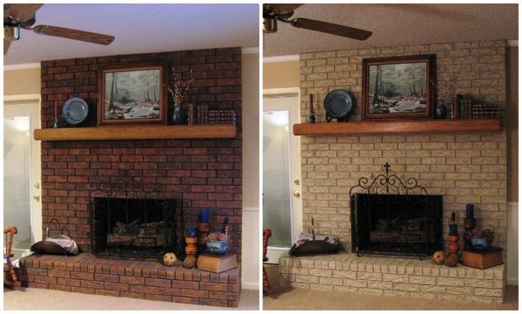 "Red Brick Fireplace Makeover Color: Twilight Taupe - ""do You Get Tired Of Fan Mail? My"