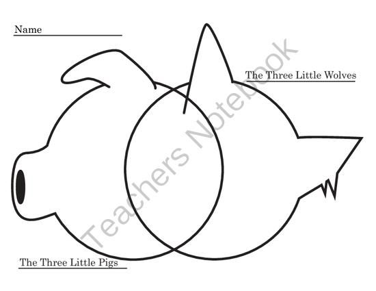 FREE Venn-Diagram for Three Little Pigs and Three Little