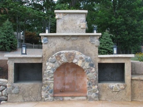 Image Result For Spanish Style Large White Stucco Fireplace 1000+ Ideas About Stucco Fireplace On Pinterest | White