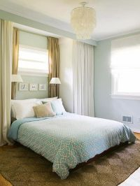 25+ best ideas about Curtains behind bed on Pinterest ...