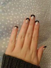 black french tips nail art nails