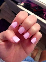 perfect light pink acrylic nails