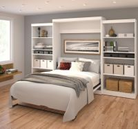 Bestar Queen Storage Murphy Bed | Wayfair | Murphy Beds ...