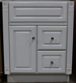 Classic White RTA Bath Vanity Unit 30h VU2421D30