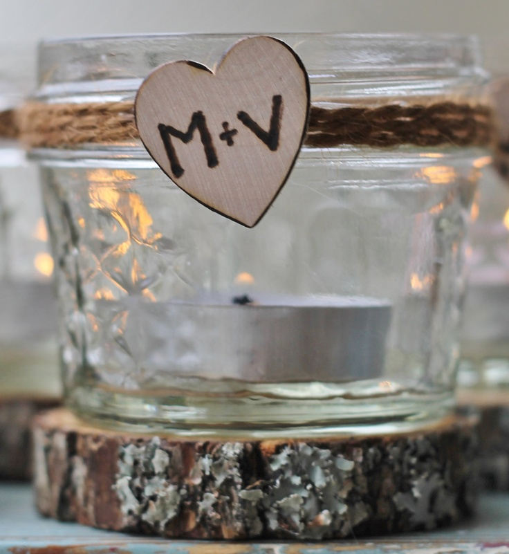 Wedding Party Glass Jars Table Markers, Party Favor, Candy Jars, Personalized He