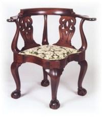 Goddard Corner Chair. A Goddard icon piece with four ball ...
