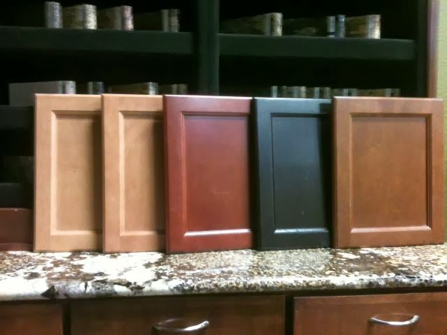 colored kitchen islands sink capacity cabinet stain colors: left to right dawn;mirage;cinnamon ...