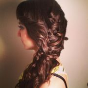 prom hair loose braid and curls
