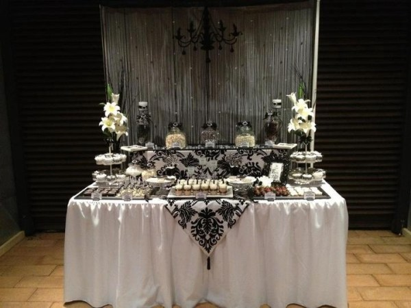 Black and White Elegant 18th Birthday LollyDessert Buffet