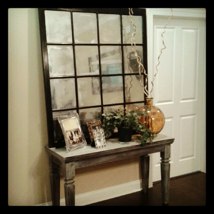 Pottery Barn Style Old window turned into mirror usually