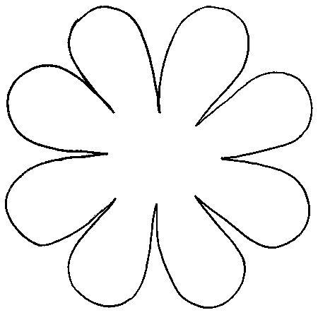 101 best images about 3-D flower petal patterns on