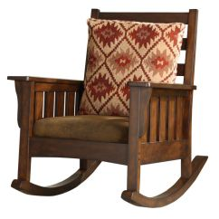 Craftsman Rocking Chair Styles Moon Saucer Antique Mission-style With American Indian Inspired Cushion. Nice, But Not Quarter ...