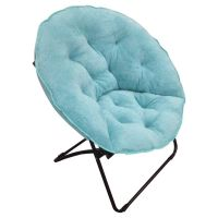 Room Essentials Fuzzy Dish Chair aisle D16 , blue or grey ...