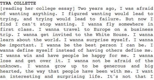 tyras college essay fnl