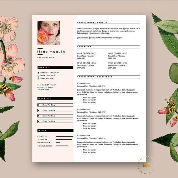 Stylish Resume Template 3pk Modern CV FREE Cover