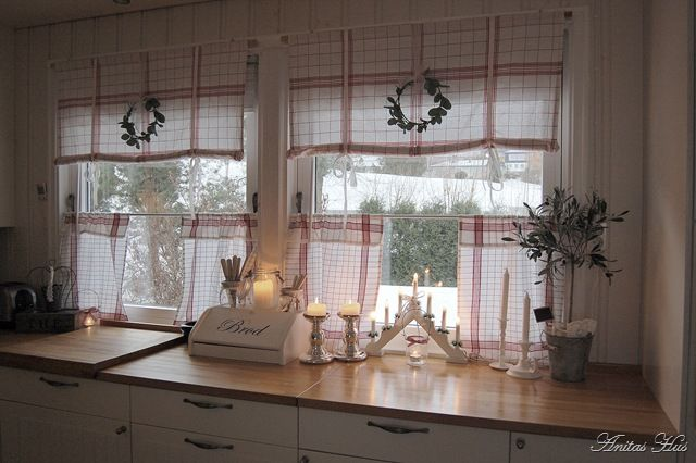 Kitchen Curtains Idea For DIY Whitewashed Cottage Chippy Shabby Chic French Country Rustic
