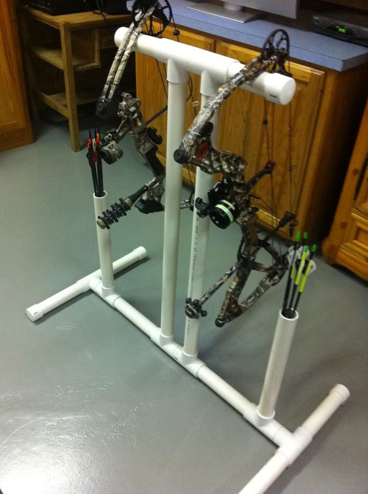 PVC bow stand with quiver  Archery  Pinterest  The o