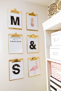 25+ best ideas about Clipboard Wall on Pinterest