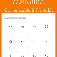 Electron Dot Diagram For P Wiring Genie Garage Door Opener Customizable And Printable Lewis Worksheet | Chemistry Pinterest Worksheets ...
