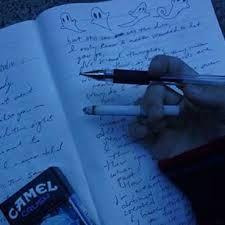 aesthetic writing journal dark september beach pens night ravenclaw
