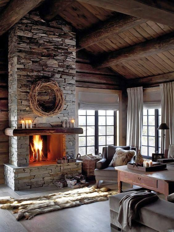 49 Heartwarming fireplaces in warm and cozy living spaces