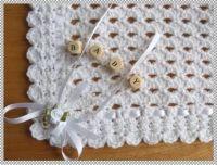 Free Crochet Christening Blanket Patterns | Details about ...
