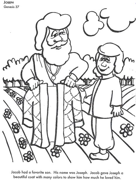 Printable Children's Bible Story Coloring Pages from Old