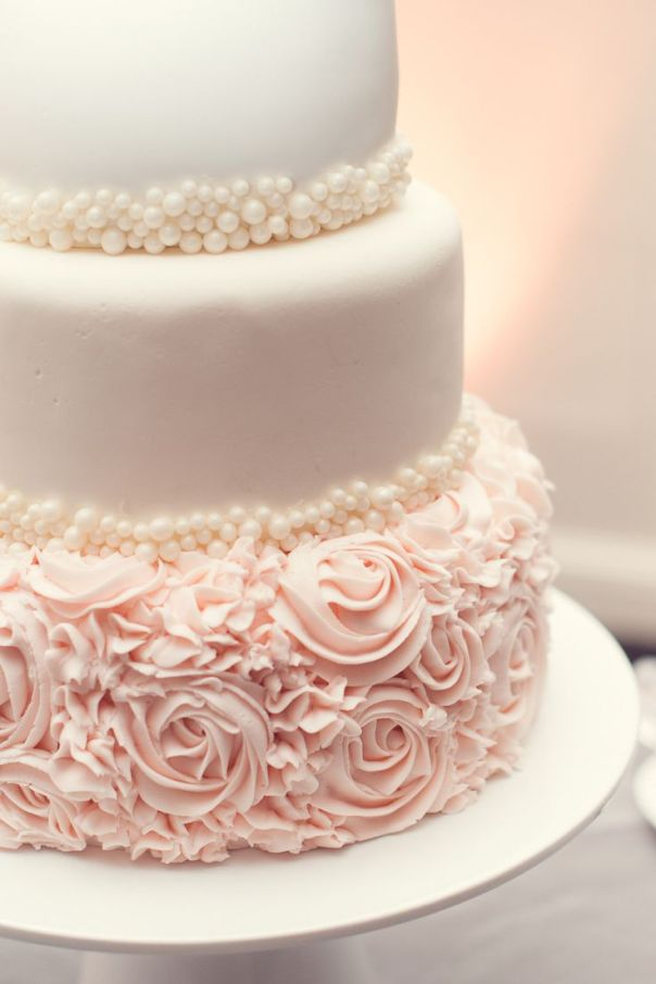 Pretty Wedding Cake Decor! See the wedding on #smp here: http://www.StyleMePretty.com/canada-weddings/2014/04/30/traditional-ballroom-wedding-2/ - Photography: BlushWeddingPhotography.com