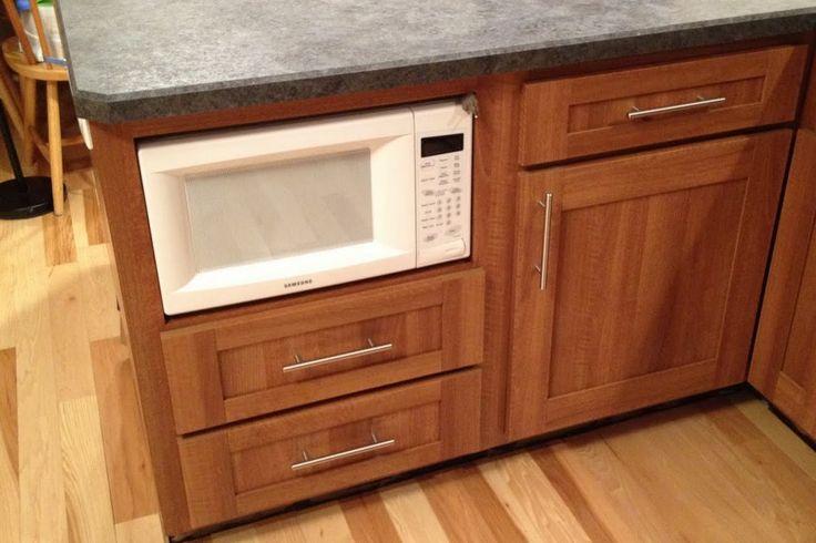 diy kitchen cabinet refacing island carts under counter microwave cupboard | ...