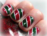 simple christmas nail art - bing